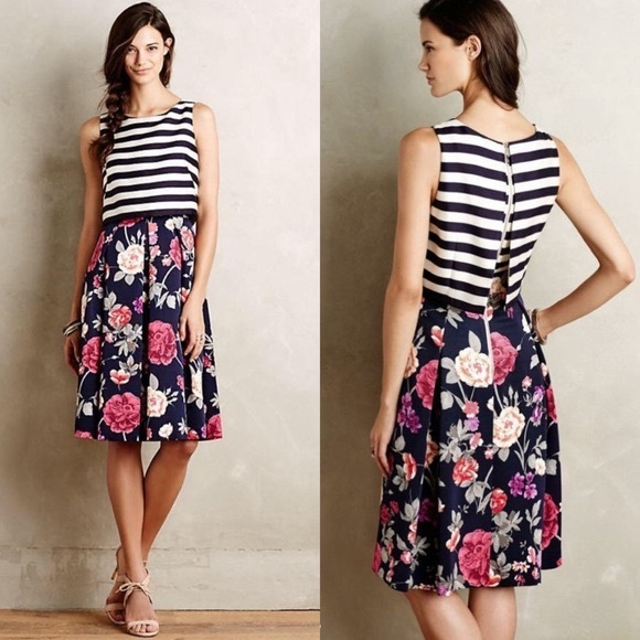 b188d4a296d7 Anthropologie Dresses | Moulinette Soeurs Split Print Dress | Poshmark